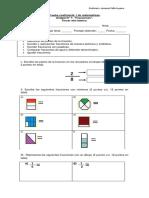 Evaluación FRACCIONES
