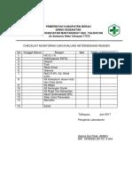 Chekclist Evaluasi Reagen