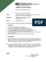 INFORME N° 328 -2017 OPINIÓN PRESUPUESTAL PARA REGISTRO DE CAS EN EL MÓDULO DE RECURSOS HUMANOS - SE ENTREGO