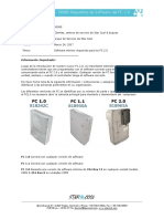Minimum Software for FC 20 Actions SB 00085 - Spanish