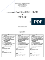 Multi Grade Lesson Plan in English
