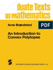 An Introduction to Convex Polytopes, Arne Brondst
