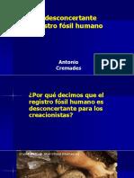 Cremades DESCONCER. REGIS. FÓSIL Presencia 60.Ppt