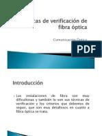 Técnicas de verificación de fibra óptica