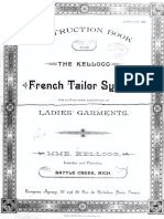 Kellogg French Tailor System for Cutting Ladies Garments 1890