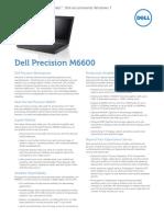 Precision m6600 Specsheet