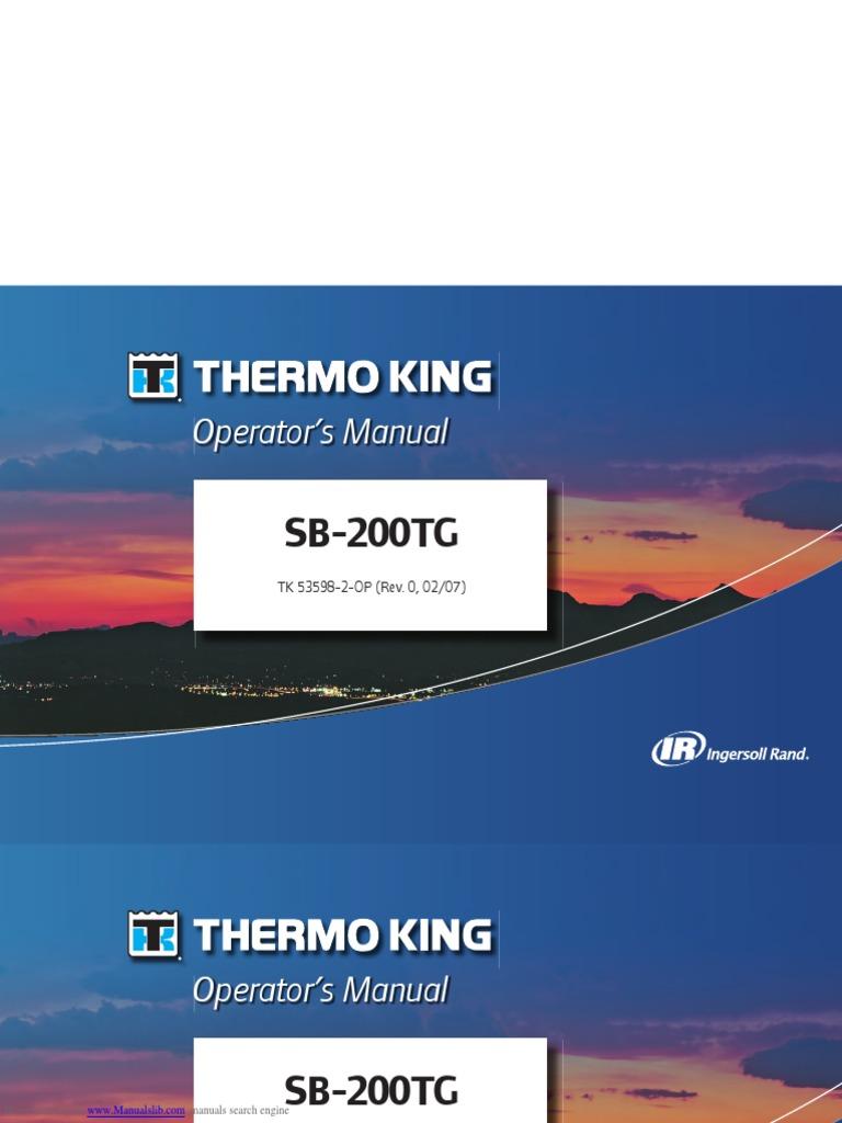 Sb200tg Thermo King   Tort   Refrigeration