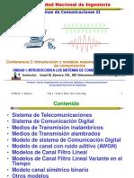 Introduccion a y modelos matematicos para canales de comunicacion