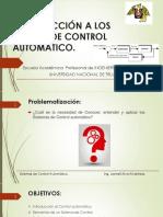 Clase 1- Introduccion a Los Sistemas de Control Automatico