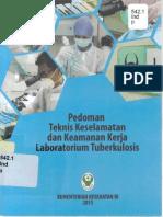 Pedoman Teknis Keselamatan Dan Keamanan Kerja Laboraturium Tuberkulosis 2015