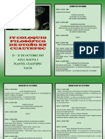 Programa Coloquio Otoño UACM