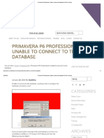 Primavera P6 Professional_ Unable to Co...t to the Database _ Ten Six Consulting