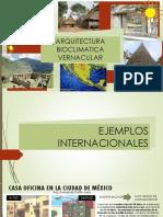 Arquitectura Vernacular y Bioclimatica