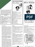Carta Programa - Pão e Poesia [PB]