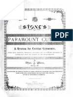 Stones Paramount Cutter-A System for Cutting Garments 1887