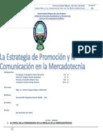 Grupo 16 La Estrategia de Promocion y La Comunicacion en La Mercadotecnia Paralelo A