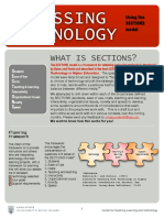 Sections Framework