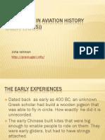 Milestones in Aviation History