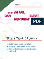 Tajuk 4 Sistem Fail Dan Surat Menyurat