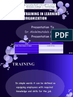 Training and Developing - HRM204 HRM303