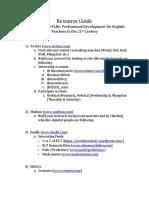 ACTEFL 2017 Workshop  Resource Guide