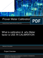 Prover Meter Calibration
