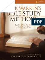 Bible Study Methods Rick Warren
