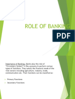 Role of Banking