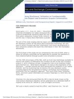 June 24, 2008 SEC Announces 21st Century Disclosure Initiative