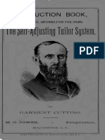 The Self Adjusting Tailor System of Garment Cutting 1891