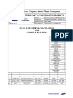 [Secl-r0-Hv-CA-tba-0001_rev_1][Hvac & Plumbing Calculation for Control Building]