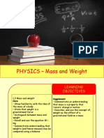 Physics 3 - Mass and Weight