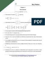 12 Maths Key Notes Ch 04 Determinant