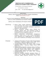 Sk Uraian Tugas,Wewenang Dan Tanggung Jawab Manajemen Mutu Berdasarkan Wakil Managemen Mutu,Pokja Admen,Pokja Ukm,Pokja Ukp