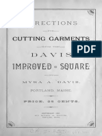 Cutting Garments With the Davis Improved Square 1888