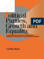 (Cambridge Studies in Comparative Politics) Carles Boix-Political Parties, Growth and Equality_ Conservative and Social Democratic Economic Strategies in the World Economy-Cambridge University Press (