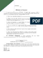 Affidavit of Consent to Travel-Format