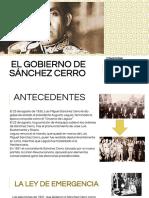El Gobierno de Sánchez Cerro