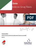 CPSU HACSU Tasmanian State Service Workplace Satisfacton Survey Report 2013 Final