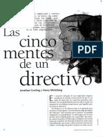 Las Cinco Mentes de Un Directivo