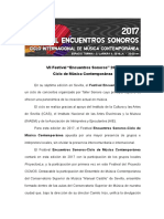 Nota de Prensa_VII Festival de Ensembles 2017