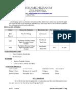 Imran Resume