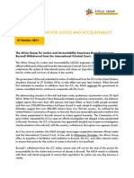 Africa Group for Justice and Accountability Statement