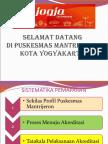 Presentasi Tamu Akreditasi Puskesmas Mantrijeron 2015