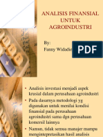 Analisis Finansial Untuk Agroindustri