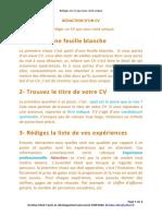 Redaction CV