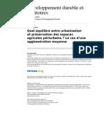 Developpementdurable 1605 Dossier 4 Quel Equilibre Entre Urbanisation Et Preservation Des Espaces Agricoles Periurbains Le Cas d Une Agglomeration Moyenne