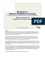 Synthesis of Reactive Distillation Notes