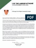 Labatt Message to FILCOM (for Distribution)