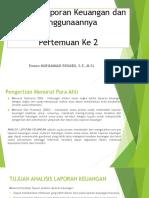 Analisis Laporan Keuangan Dan Penggunaannya